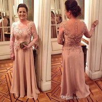 Elegant Mother Of The Bride Dress Lace Appliquses Flowers Be...