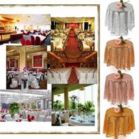 Nuova tabella tovaglia copertura decorazione articoli per la tavola rotonda paillettes tovaglie per festa di nozze banchetto Casa Evento Table Cover