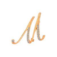 clavos caliente diamantes broche de 26 letras inglesas de oro y plata Europa y América broche de aleación broche retro pin regalo Letra A-Z