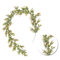 1pc Fake Vine Artificial Eucalyptus Leaves Vine Simulated Ra...