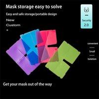 Großhandel faltbare Wegwerfstaubmaske Aufbewahrungsbehälter Bunte Gesichtsmaske Keeper Halter PM2.5 Mund Gesicht Lagerung Clip FY8020 Maske