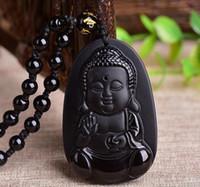 Obsidiana Natural Matagal Bebê Buddha Jade Pingente De Cristal Dos Desenhos Animados Meninos Sakyamuni Amitabha Pingente