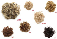 Curly Heat Resistant Messy Donut Hair Bun 7 Colors Of Synthe...