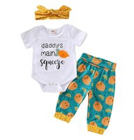 Ins Summer Infant Baby Girls 3pcs Set Babies Rompers + Pants...
