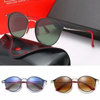 클래식 브랜드 디자인 원형 편광 선글라스 운전 안경 금속 골드 프레임 안경 남성 여성 선글라스 폴라로이드 유리 렌즈 (3602)