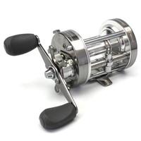 LumiParty 60 # Tambor De Pesca Carretel De Metal Duro Suave Engrenagem Trolling Boat Fishing Wheel Navio Direito / Esquerda Handed Ice Fishing Reel