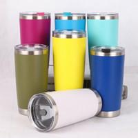 20oz Edelstahl Tumbler Vacuum Doppelwandisolierung Reise-Becher Tasse Kaffee 8 Farben-Wasser-Flasche