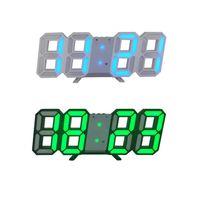 Masa Saati Ekran İzle Çalar LED Dijital Saat Duvar Asma 3D Masa Saati Takvim Sıcaklık Ekran Parlaklığı Ayarlanabilir