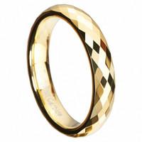 Fedi nuziali in carburo di tungsteno sfaccettate in oro multistrato con fascia alta in polacca 3 4mm con gioielli da sposa infinito regalo di Natale unico