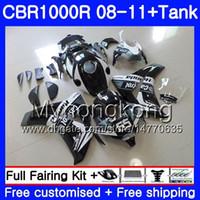 Bodys + Tank per HONDA CBR 1000RR CBR 1000 RR Castrol nero 2008 2009 2010 2011 277HM.41 CBR1000 RR 08 10 11 CBR1000RR 08 09 10 11 Carenatura
