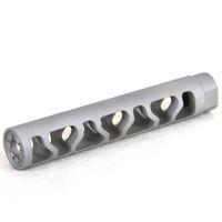 5.5 بوصة طول 9MM 1 / 2x36TPI كمامة الفرامل الخرزة انفجار الفولاذ المقاوم للصدأ كمامة الجهاز
