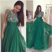 Rhinestone Evening Gown Vestidos De Festas 2019 Jewel Green ...