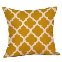 Gajjar Fashion Mustard Pillow Case Yellow Geometric