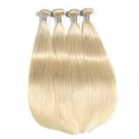 Bleach Sarışın Renk Brezilyalı Düz Saç Demetleri% 100% İnsan Saç Dokuma Paketler 10-30 Inhcs Çift Atkı Saç Dokuma