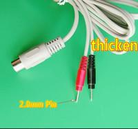 200pcs 2M TENS EMS Câble broche électrode 2.0mm fil Muscle Stimulator perte de poids du corps minceur beauté machine