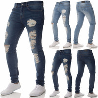Mens Jeans Skinny Pants Stretch Jeans Classic Basic Slim Fit...