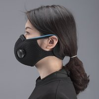 In Stock Activated Carbon Face Mask With 2 Breathing Valve M...