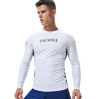 Мужчины с длинным рукавом Rashguards Топы Lycra МОРСКИЕ гидрокостюме виндсерфинга серфинг Короткий Anti-UV плавать рубашки Wetsuit Погружение футболки Rush гвардейской