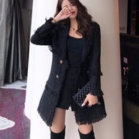 2019 Herbst-Winter-Mode Jacken Frauen Langarm Wollmischungen Tops Mantel-Jacken-Dame-klassische Reverskragen Oberbekleidung