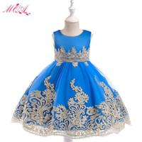 Nuovo vestito per bambini Abito da ricamo in filo d'oro Nobile ed elegante Pettiskirt principessa fiore ragazza