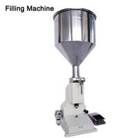 DHL grátis! A02 pneumático máquina de enchimento manual Nail Polish Shampoo Máquina de enchimento de 5 ~ 50 ml para Shampoo Creme cosmético líquido Cole Oil Filler