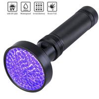 UV LED 손전등 (100)지도 UV 빛 애완 동물의 소변 얼룩 전갈 감지 손전등 휴대용 바이올렛 빛 돈 감지기 ZZA2391