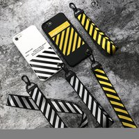 Off Tide White Stripe Case For iPhone X XS Max XR Hipster Co...