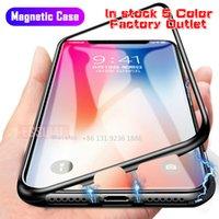 Magnetische Adsorption Metallkasten für iPhone 11 Pro 7 8 Plus Ausgeglichenes Glas Zurück Magnet-Abdeckung für iPhone 6 6s Plus X XS Max-Abdeckung