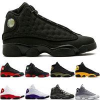 Nike Air Jordan Retro cappello e abito scarpe da basket degli uomini 13 13s Atmosfera Grigio Lakers Nero a infrarossi Phantom Hyper Chicago molti colora il formato 7-13