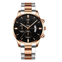 Men Fashion Military Stainless Steel Analog Date Casual Spor...