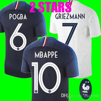Top Thailand quality 2 Stars Home Away POGBA GRIEZMANN MBAPP...