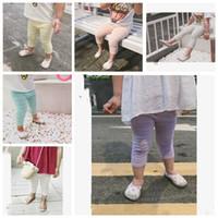 Baby durchbohren Gamaschen Frühlings-Sommer-Ineinander greifen dünnen Legging Breath Moskito-Beweis Baby Tights Süßigkeit-Farben-Kinder-Boutique Kleidung ZYQ221