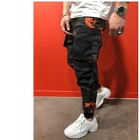 Nouveau 2019 engouement occasionnel des hommes pour un pantalon de camouflage pantalon crayon maigre mince