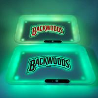 Backwoods Rolling Tray Glow Sigarette Vassoio 7 colori LED Glowtray Glowtray 1800mAh Batteria incorporata Taglia rapida Runtz con scatola regalo