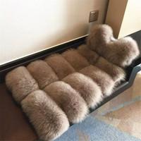 Mode dames lange bont vest jas mouwloze slanke winter faux bontjas bontjas kahki zwartgroene grijze kleuren