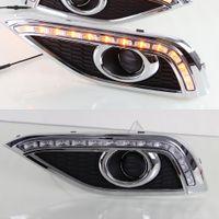 1 par DRL Körning Dagtid Running Light DRL med sväng Signal dimljus Relä Daylight Bilstil för Honda CRV CR-V 2012 2013 2014