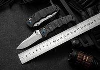 벤치 메이드 나카무라 축 접이식 나이프 M390 새틴 일반 블레이드 탄소 섬유 핸들 서바이벌 나이프 BM31 BM42 BM51 BM62 Knifes EDC 도구
