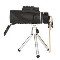 Yüksek Güç 40x60 Prizma Monoküler Teleskop Çift Odak HD Optik Zoom ile Hızlı Smartphone Klip Tripod Avcılık Kamp için Su Geçirmez Kapsam