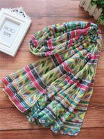 브랜드의 새로운 디자인 여성의 긴 스카프 100 % 실크 재질 인쇄 패턴 세 가지 색상 크기 180cm - 65cm