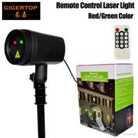Gigertop TP-E35 Перемещение сада Лазерный свет IP44 водонепроницаемый красный / зеленый цветной лазерный проектор Rotation 12 рисунков Strobe / флэш