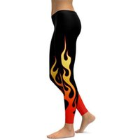 PROBRA Ladies Gym Wear Yoga Pants Flame Leggings Workout Tig...