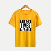 Hauts Hommes Mode Lettre Hommes T-shirts imprimés Femmes t-shirts imprimés d'été 2020 Nouvelle jeunesse Casual solide Couleur Outdoorwears NOIR MATIÈRE VIES