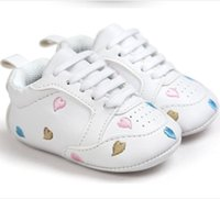 Baby Girls Baby Boys Casual Sport Shoes Embroidery Stars Lov...
