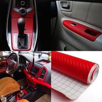 127 centimetri * 30cm dell'automobile della fibra del carbonio dell'automobile 3D della pellicola del vinile impermeabile auto Wrap decalcomanie per Moto Auto Car Styling Automobile