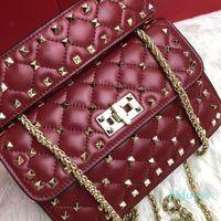 bolso carpeta de la manera Moder pura remache de las señoras del bolso del bolso del bolso envío diseñador libre del bolso de hombro