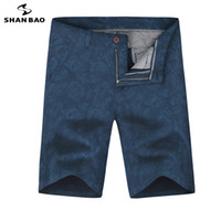 SHANBAO 2019 estate new fashion flower stampa da uomo d'affari casual moda dritta di grandi dimensioni pantaloncini di cotone di alta qualità 5061