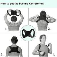 Soporte de espalda Hombres Mujeres Ajustable Elástico Reducir Fatiga One Tamaño Hombro Adulto Black Brace Anival Postura Corrector Cinturón