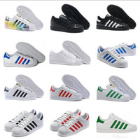 2018 Originales Superstar Hologramas blancos Iridiscentes Superestrellas junior 80s Pride Sneakers Super Star Mujeres Hombres Zapatos deportivos casual 36-44