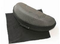 Nova marca Upgrade Eva Zipper óculos de sol óculos capa e pano de alta qualidade óculos de compressão caixa preto MOQ = 10 pcs pacote