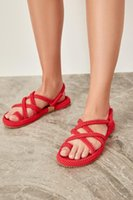 Trendyol Red Mesh Female Sandals TAKSS19YS0002